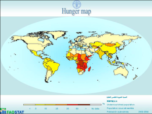 FAO hunger map